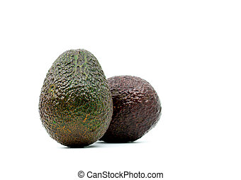Avocado isolated on white background with clipping path. Source of omega 3 from natural food