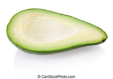 avocado, isolato, frutta, fondo, mezzo, bianco
