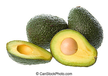 avocado, isolato
