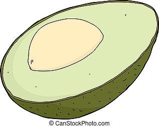 avocado, isolato