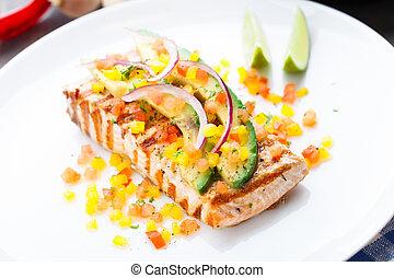 Avocado lime salmon