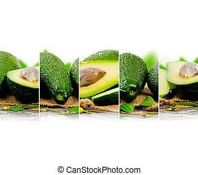 Avocado mix - Photo of abstract avocado mix with white space...