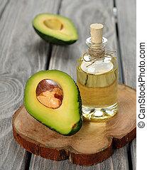 avocado oil on a gray background