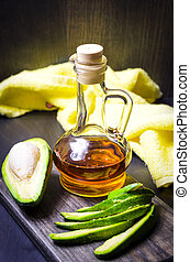 avocado oil on the table