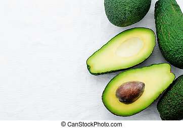 avocado on a white background. tinting. selective focus