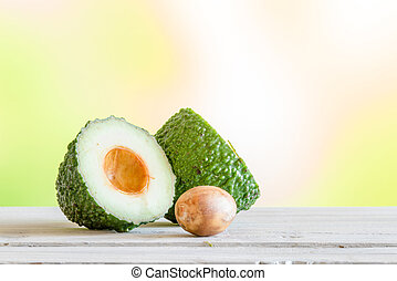 Avocado on a wooden table