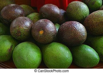 Avocado on Display - Avocado on display on a market stall