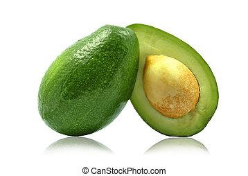avocado -  avocado on white background