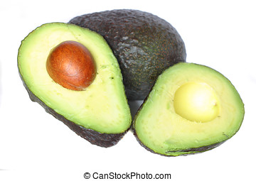 Avocado, one whole and one slices