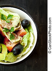Avocado Salad with Seeds and Vegetables