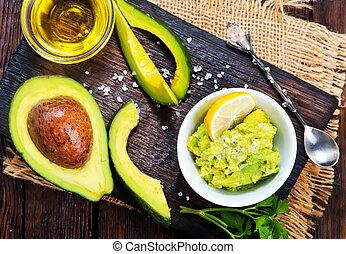 avocado, salsa