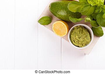 avocado, saus, ingredienten