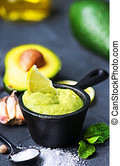 avocado, saus