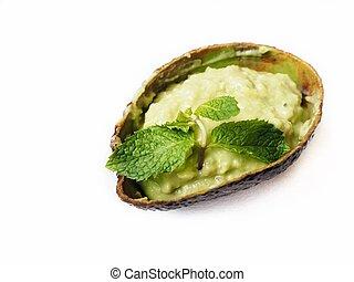 avocado, saus, vrijstaand