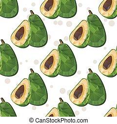avocado seamless pattern