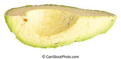 avocado slice isolated on a white background