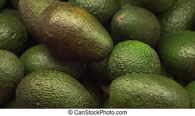 Avocado sold in supermarket stock footage video
