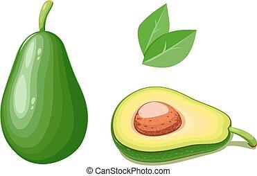Avocado. Tropical exotic fruit. Natural organic healthy...