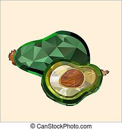 avocado, veelhoek