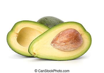 avocado, vrijstaand, op wit, achtergrond