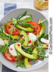 Avocado with Pomegranate salad