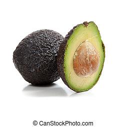 avocados, dále, jeden, běloba grafické pozadí