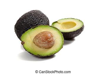 avocado's, op, een, witte achtergrond