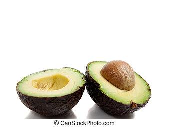 avocado's, witte achtergrond