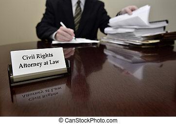 avocat, business, droits, civil, bureau, carte