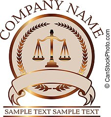 avocat, or, droit & loi, -, justice, balances, ou, cachet