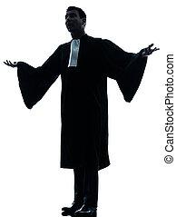 avocat, plaidoirie, homme