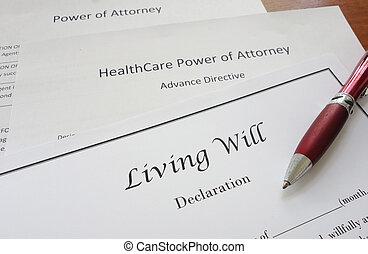 avocat, puissance, volonté, vivant