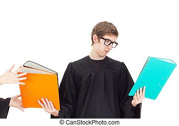 avocat, travail, jeune, lot