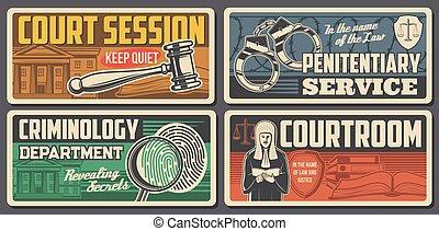 avocat, tribunal, juge, salle audience, justice, droit & loi...