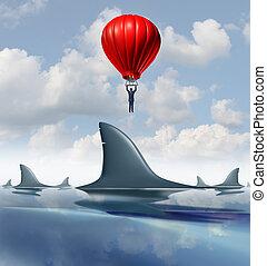 Avoid Danger - Avoid danger and rise above the risk as a...