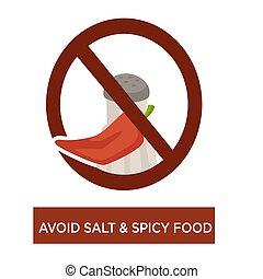 Avoid salt and spicy food disease prevention diet