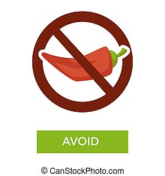 Avoid spicy food medical advice crossed chili pepper