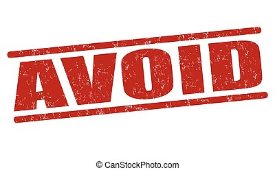 avoid stamp clip art vector and illustration 290 avoid stamp