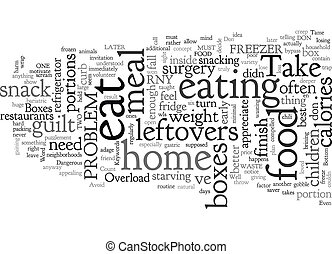 Avoid the Take Home Box Overload text background wordcloud concept