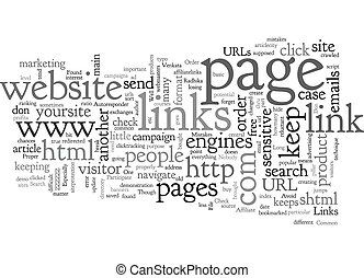 Avoid These Common Mistakes With Your Links text background ...