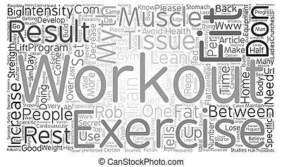 Avoid These Top Workout Myths text background word cloud concept