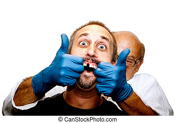 A scary dentist visit turns for the worst as the dentist tries for a more aggressive technique.