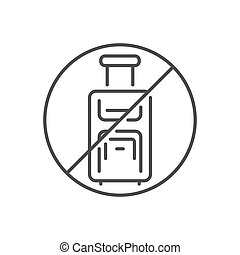 Avoid travel related vector thin line icon.