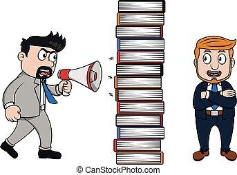 avoiding from scolding boss