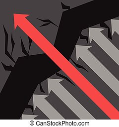 avoids, obstacles, flèche rouge
