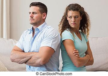 avoir, couple, argument