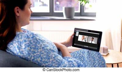 avoir, vidéo, pregnant, appeler, femme, médecins