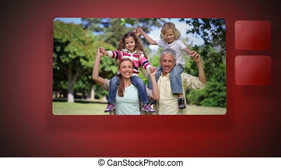 avoir, vidéos, amusement, famille