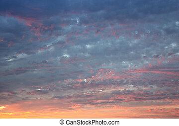 avond, hemel, abstract, achtergrond