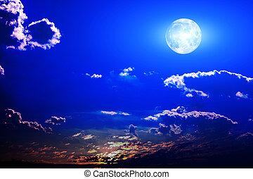 avond lucht, bankstel